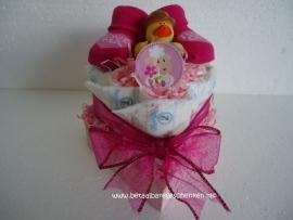 Luiertaartje Hart roze