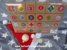 Adventkalender met waxmelt geurcups