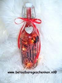 "Grote fles ""Gifts of Love"" met licht"