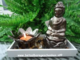 Wierook houder Boeddha + Theelichthouder