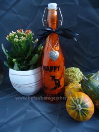 Verlichte fles Halloween heks