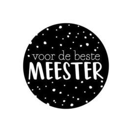 """Sticker """"De beste Meester"""""""