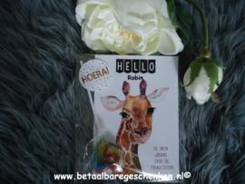 """Complete traktatie met kaart """"Giraffe"""""""