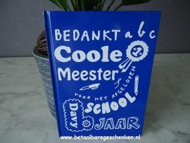 """Notitieboek """"Colle Meester"""" blauw"""