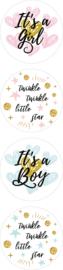 Stickers geboorte assorti