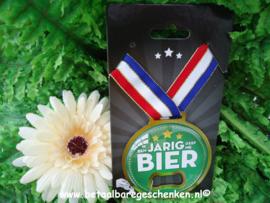 """Medaille opener """"Jarig/Bier"""""""
