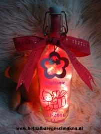 Geboortefles Roze
