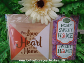"Houten onderzetter ""Home-Heart"""