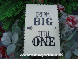 "Houten kaart ""Little One"""