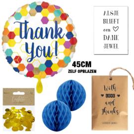 """Ballon cadeaupakket """"Thank You"""""""