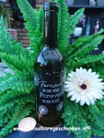 """Wijnfles waxinelichthouder """"Memoriam"""""""