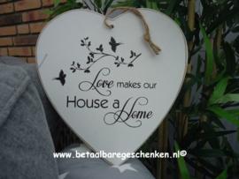 """Houten Hart """"Home"""""""