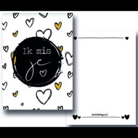 """Minikaart """"Ik mis je"""""""