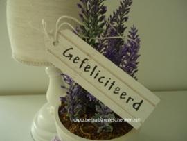 """Houten label """"Gefeliciteerd"""""""