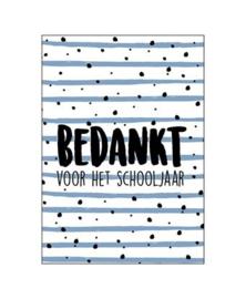 """Wenskaart """"Bedankt schooljaar"""""""