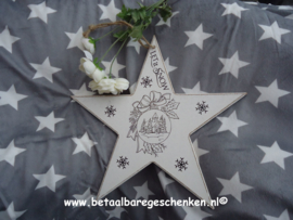 "Houten ster ""Kerstbal"""