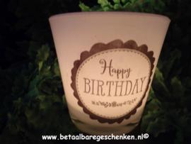 """Waxinelichthouder """"Verjaardag"""""""