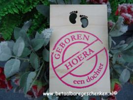 """Houten kaart """"Dochter"""""""
