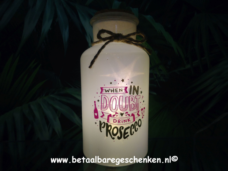 "Pot met licht ""Prosecco"""