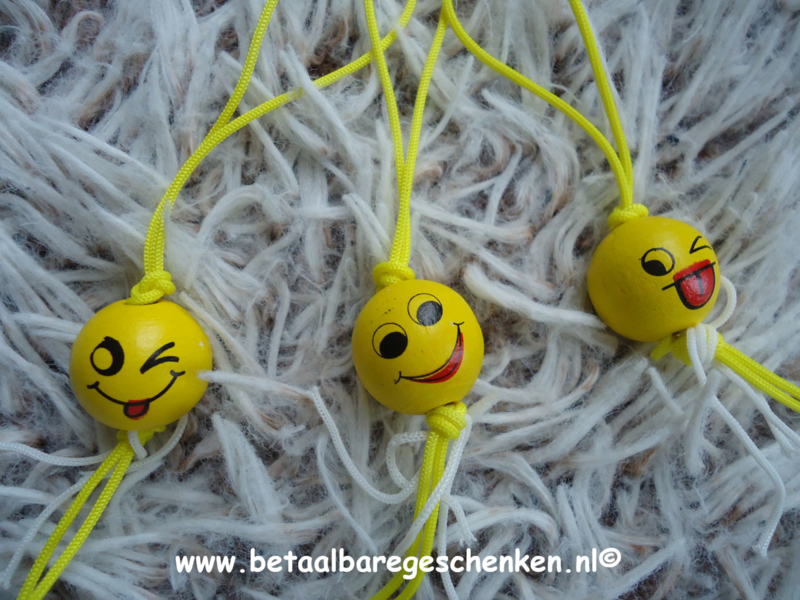 Geluks smiley rond bol
