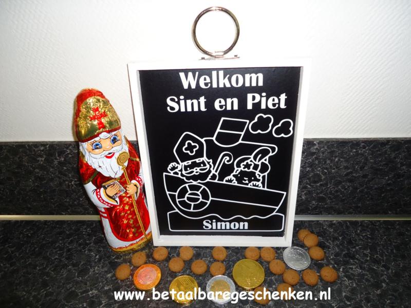Welkom bord Sint en Piet met naam