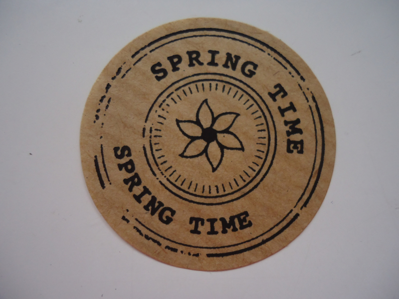 "Kraft sticker ""Spring Time"""