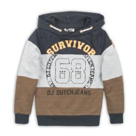 DJ Dutchjeans Sweater (Hoodie) Camel/Dark Grey/Grey Melee
