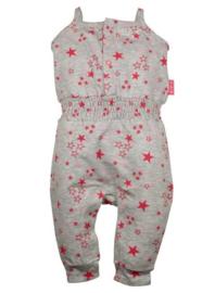 Dirkje Jumpsuit 'Stars' Neon Pink/Grey