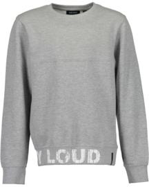 Blue Seven Sweater 'Stay Loud' Grijs