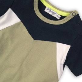 Dirkje Shirt Navy/Light Army Green/White