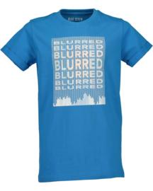 Blue Seven Shirt  'Blurred Vision' Cyaan