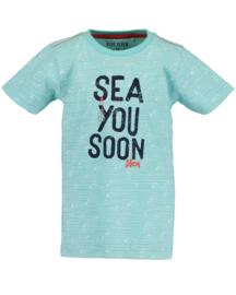 Blue Seven Shirt 'Whale Bay' Aqua