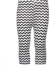 Blue Seven Legging (Capri) 'Graphic' zwart/wit