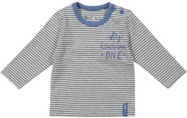 Dirkje Basic Shirt Grijs/Blauw