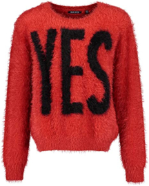 Blue Seven trui 'Yes' Rood