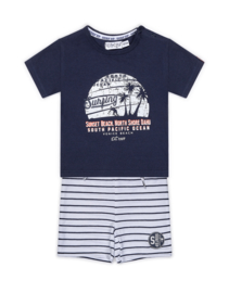 Dirkje Set 'Hawaii 1987' Short+Shirt Navy/White