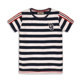 DJ Shirt  Navy/White Stripe