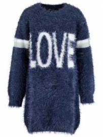 Blue Seven Jurk 'Love' Blauw