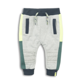 Dirkje Joggingbroek Grey Melee/Navy/Neon Yellow