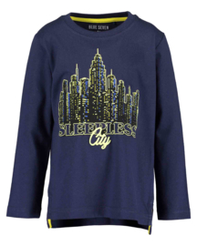 Blue Seven Longsleeve 'Big City Sports' Donkerblauw