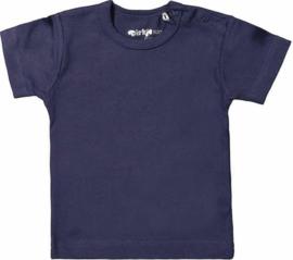 Dirkje Basic Shirt Korte Mouw Donkerblauw