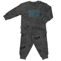 Frogs and Dogs Pyjama 'Superhero' Antraciet