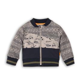 Dirkje Vest 'Go get them tiger' Grey/Navy