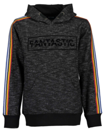 Blue Seven Sweater 'Fast Food' Zwart