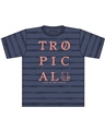 Blue Seven Shirt  'Tropical' Jeansblauw