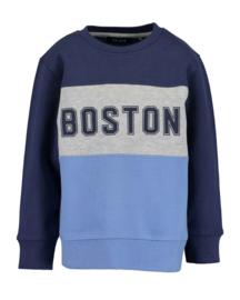 Blue Seven Sweater 'Simplicity' Donkerblauw/Lichtblauw