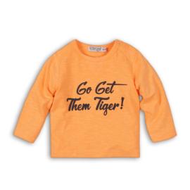 Dirkje Longsleeve 'Go get them tiger' Faded Orange