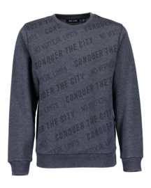 Blue Seven Sweater 'No Limits' Donkerblauw
