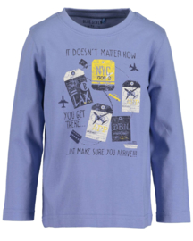 Blue Seven Longsleeve 'Let's Travel' Blauw