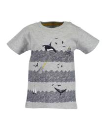 Blue Seven Shirt 'Whale Dive' Grijs